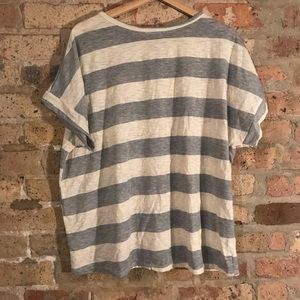 Vici Tops - Vici grey striped oversized top